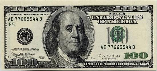 100 doların üstündeki adam